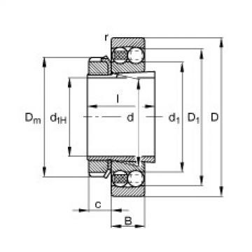 Rodamiento 1214-K-TVH-C3 + H214 FAG