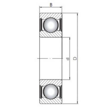 Rodamiento 6017-2RS CX