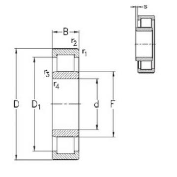 Rodamiento NU319-E-MA6 NKE