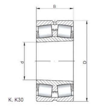 Rodamientos 24160 K30W33 ISO