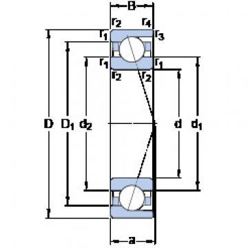 Rodamiento 7040 ACD/P4A SKF