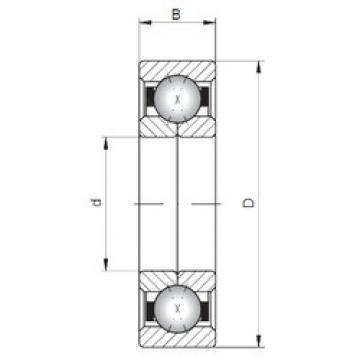 Rodamiento QJ210 ISO