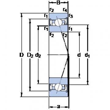 Rodamiento S7015 CB/HCP4A SKF