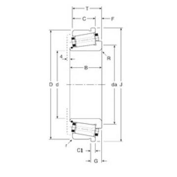 Rodamiento 131090/131152XC Gamet