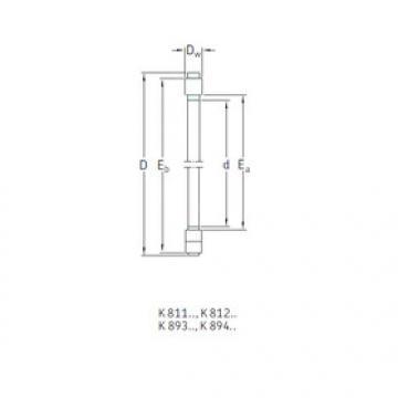 Rodamiento K89309TN SKF