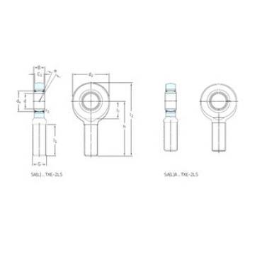Rodamientos SALA50TXE-2LS SKF