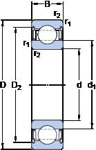 Rodamiento 6314-2Z/VA208 SKF