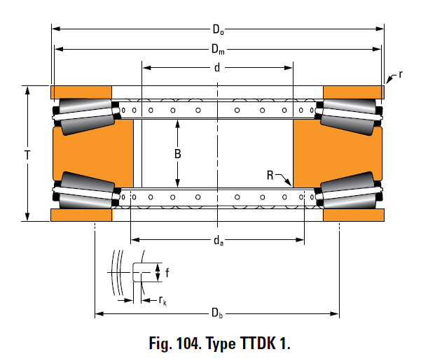 Bearing T10400F Thrust Race Double